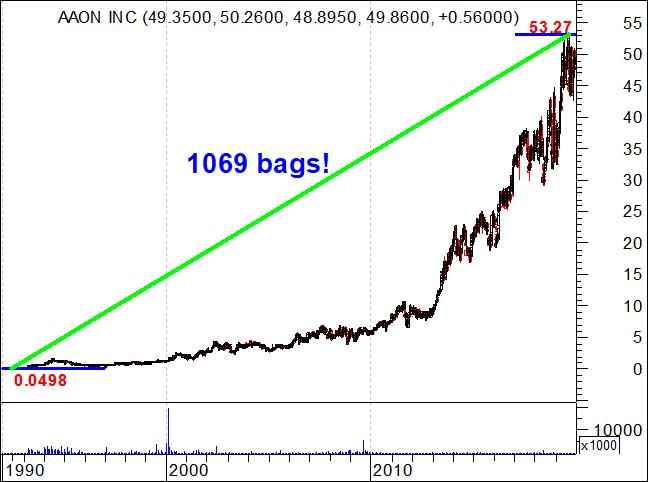 AAON INC - Ação americada que subiu 1069 bags
