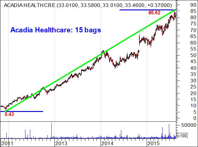 Acadia Healthcare stocks rose 15 bags
